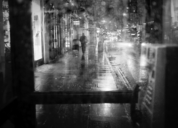 Phonebooth in the rain