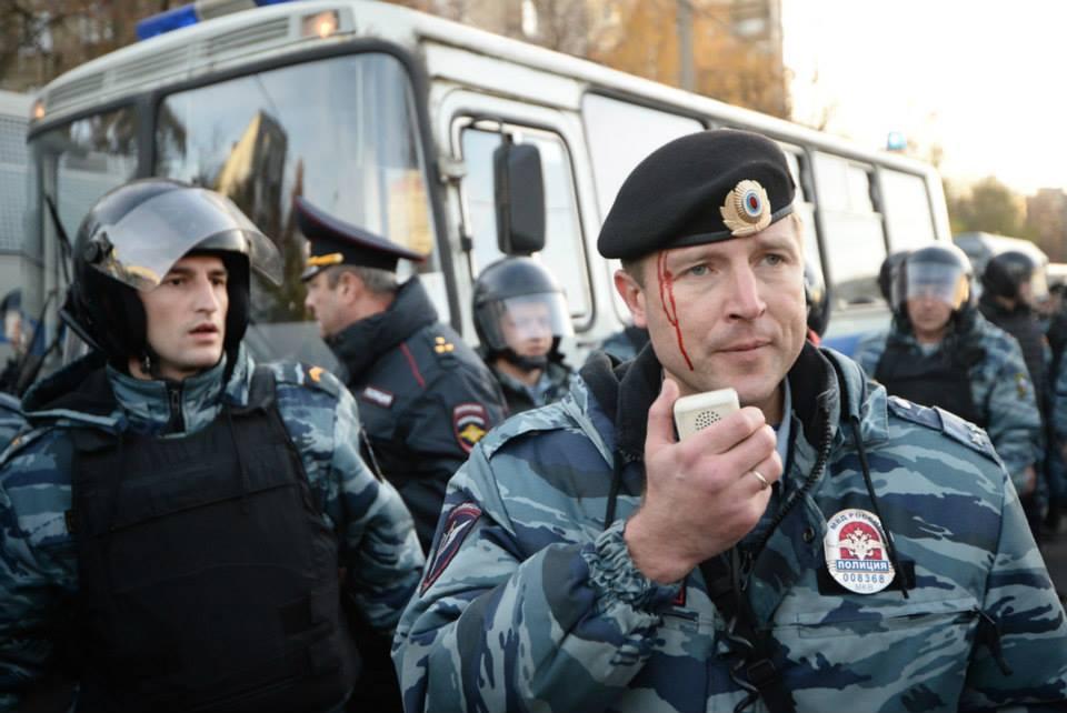 Бирюлёво. Русские проломили башку полковнику полиции