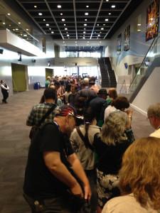 Line for Hugo tickets