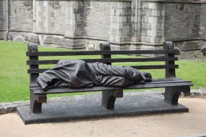 Stranger on a bench