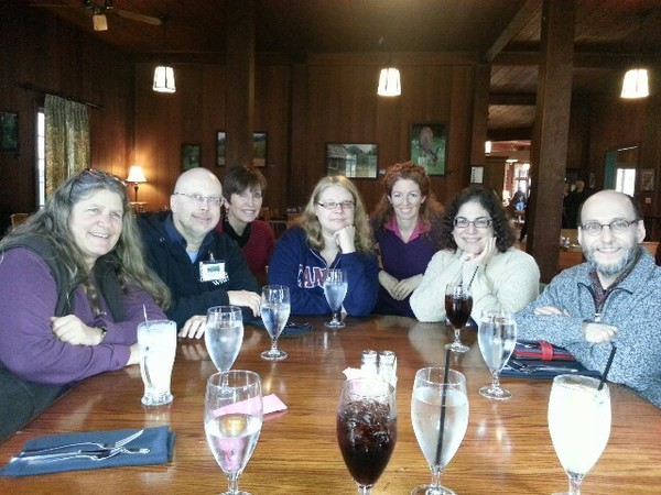 Rainforest Lunch w? Brenda Cooper, Rob Sawyer, Louise Marley, Sherry Peters, Allex Tillson, me, David. D. Levine