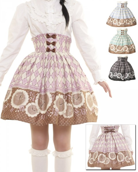 Bodyline Antique Clock skirt_$40