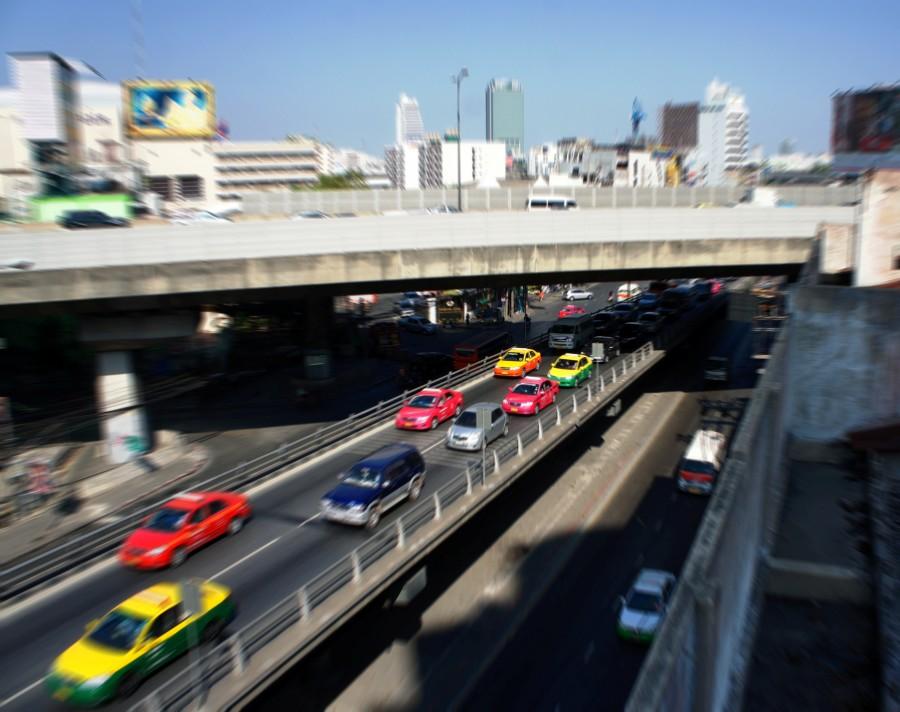 Разноцветные такси Бангкока