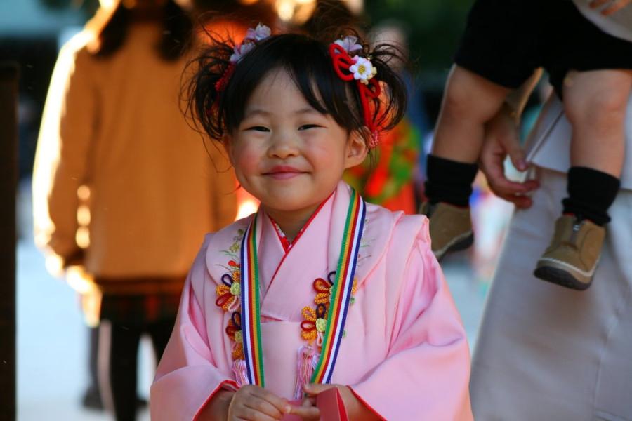 Девочка в Японии
