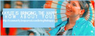 Happyfest banner: Kaylee