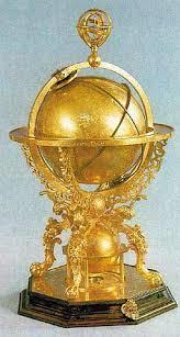 глобус-часы 1586