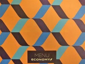 Economy Class Menu YYZ-CDG