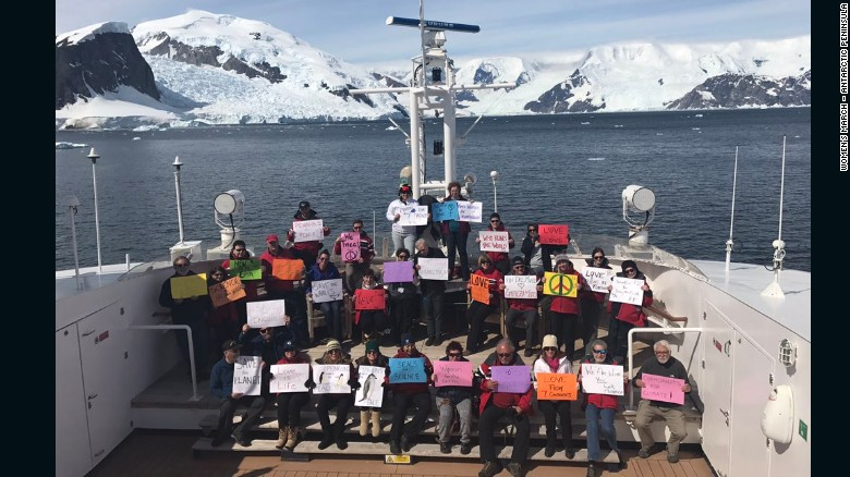 Yes, there's a women's march in Antarctica.