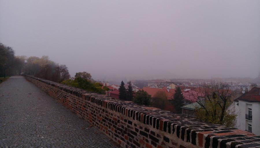 Осенняя Чехия с однодневным заездом в Германию-2017. Холодный день в Праге. Вышеград