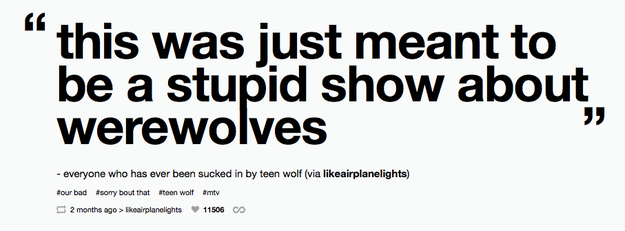 Stupid show about werewolves!