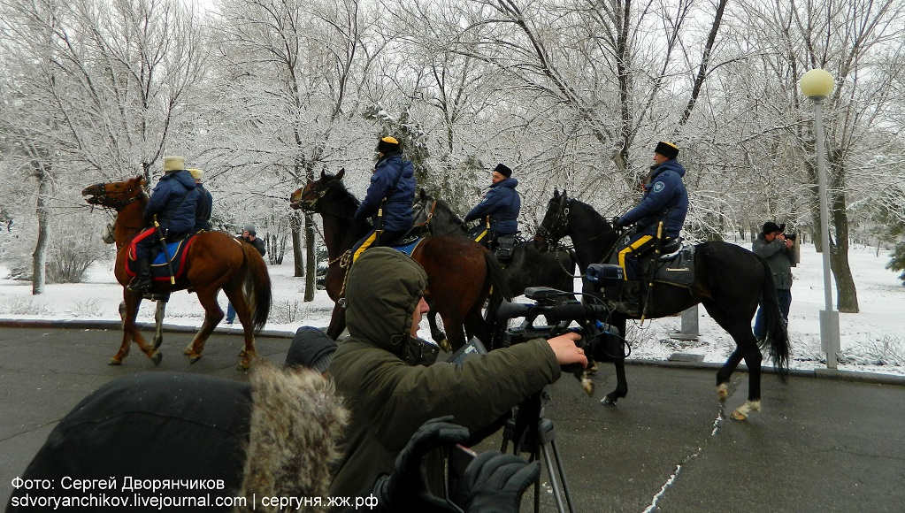 Волгоград - Казаки на Мамаевом кургане 29 марта (12)