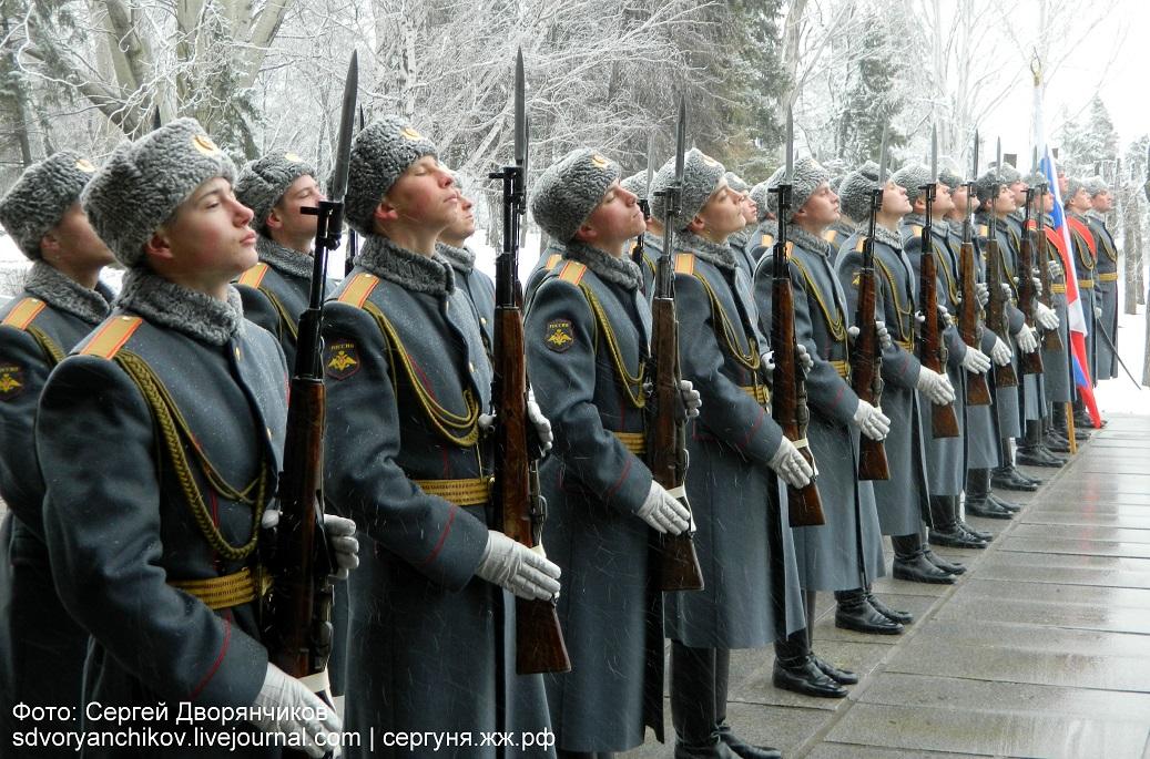 Волгоград - Казаки на Мамаевом кургане 29 марта (16)