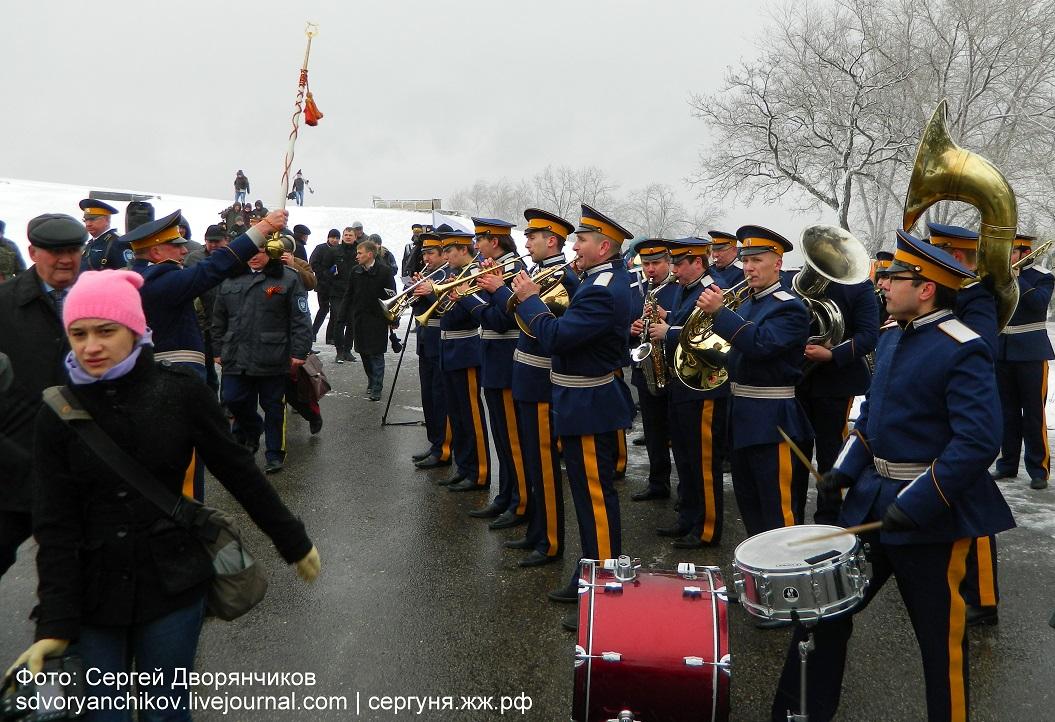 Волгоград - Казаки на Мамаевом кургане 29 марта (1)