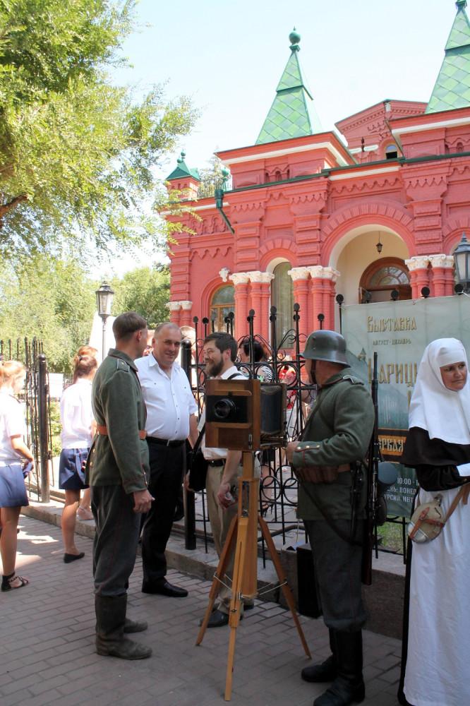 участники реконструкции старого Царицына