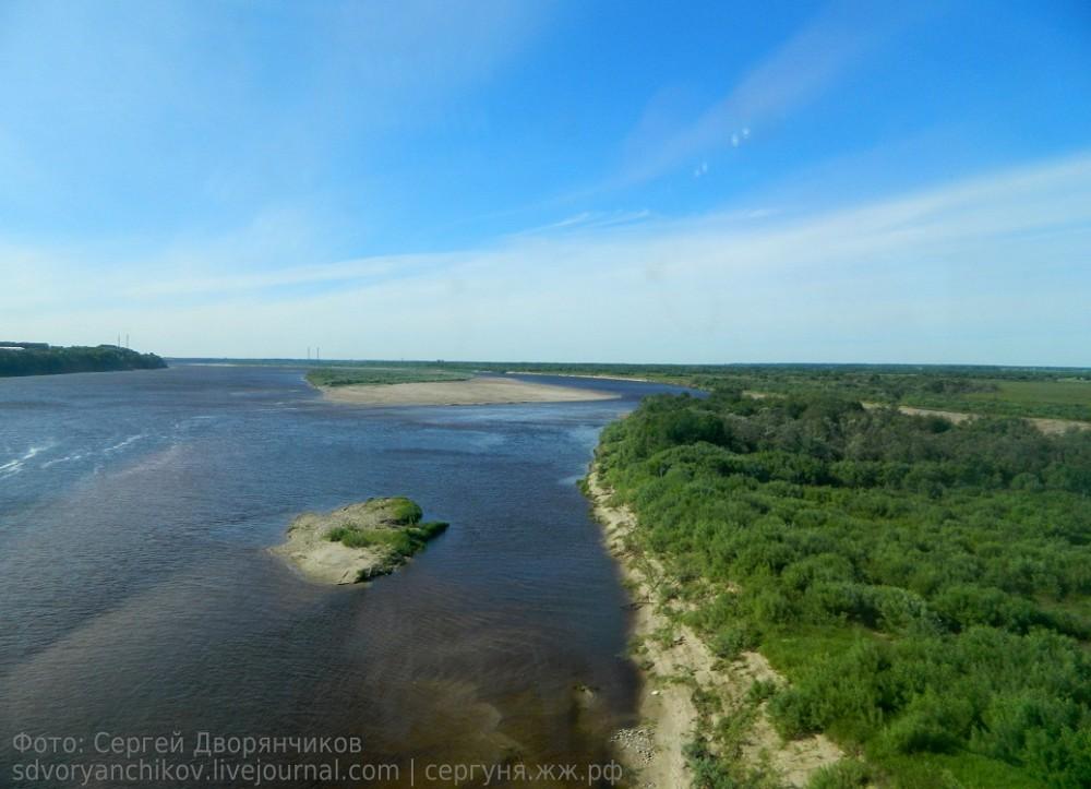 Коряжма - июнь 2014 Котлас Северная Двина вид жд мост