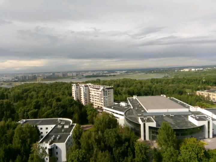 Казань - вид на город с 17-го этажа отеля Корстон