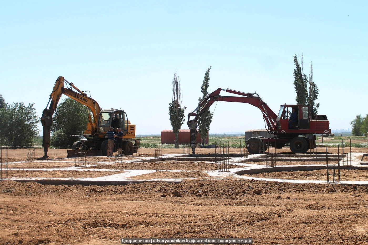 Подготовка к установке нового Колеса обозрения в парке Волжский идёт полным ходом. Фото 26 мая 2018