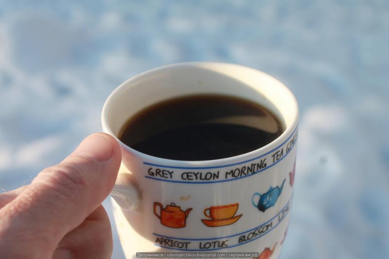 31 день для счастья. День 7 \ кофе на снегу