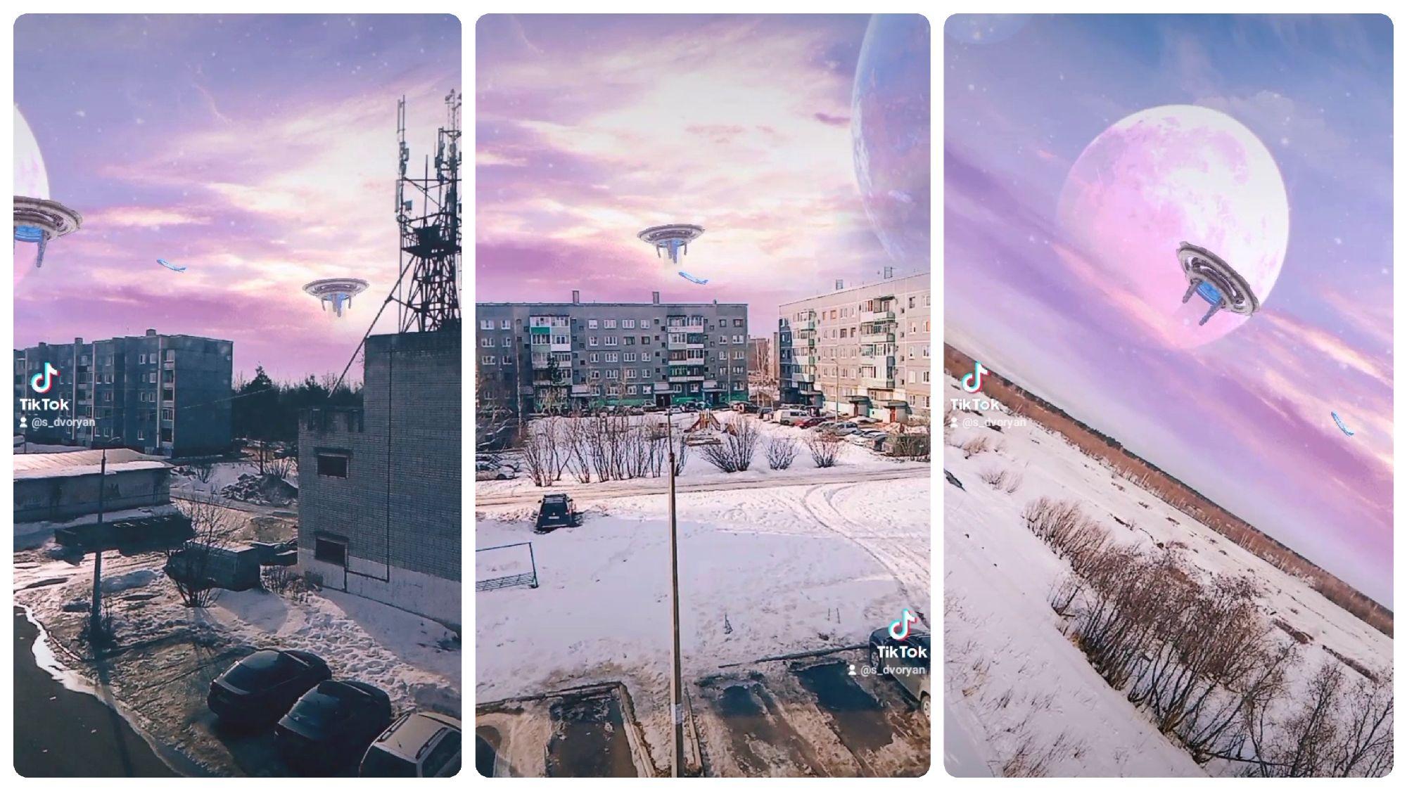 НЛО над Коряжмой. 30-03-2021