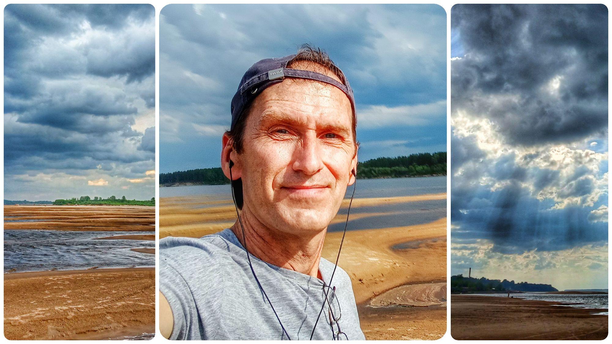 01. Прогулка на пляж перед грозой. Коряжма, Вычегда, 25 июня 2021