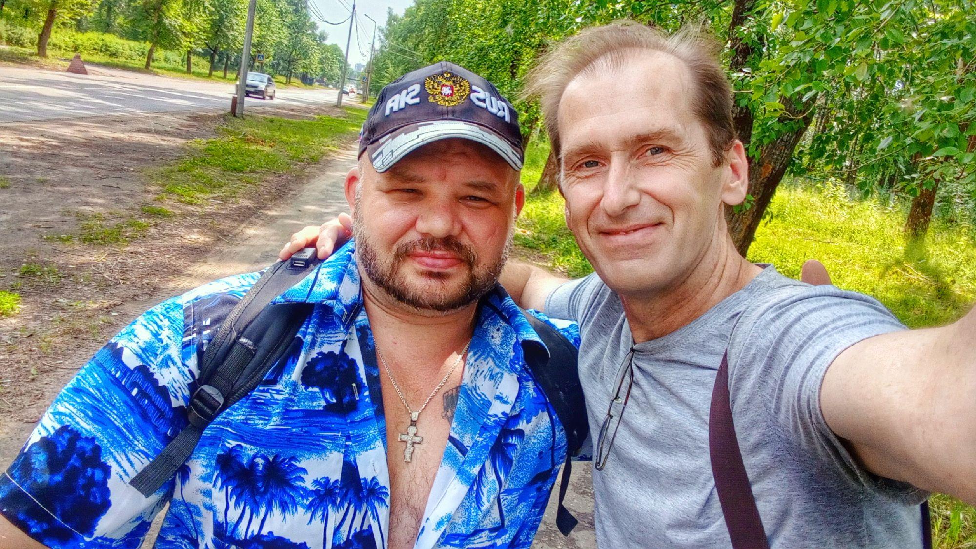 Я и Александр Самойлов. Себяшка вам в ленту.