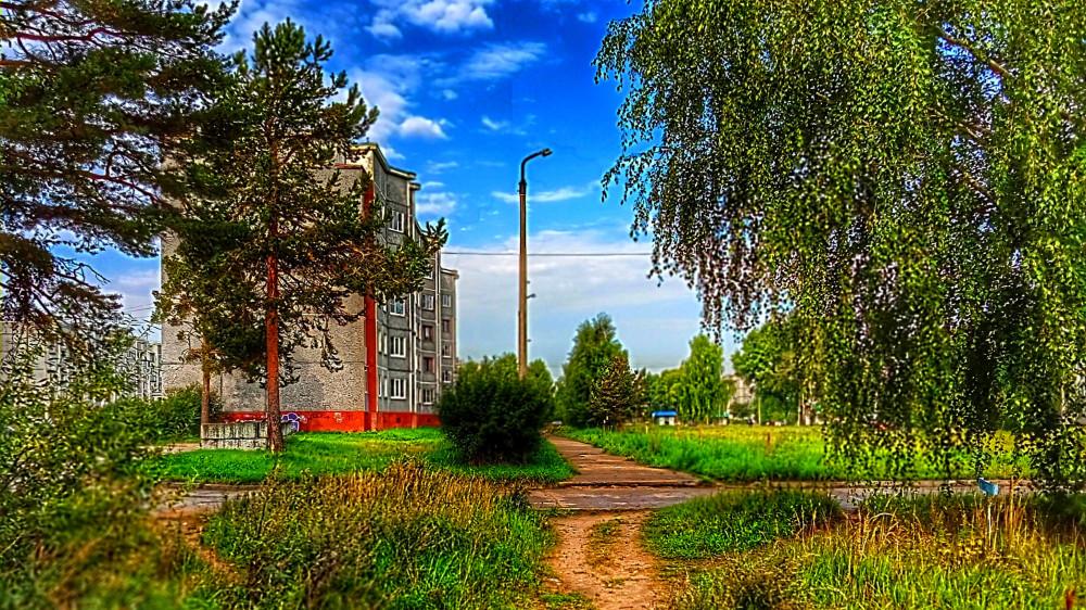 Коряжма. В конце проспекта Ленина. 21 августа 2021