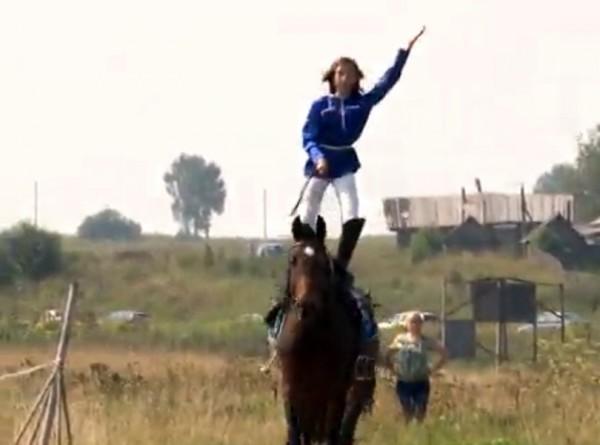 Влада Милькова, на фестивале Казачья Вольница