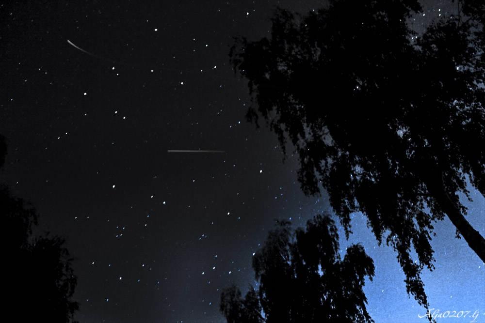 звёздное небо, персеиды