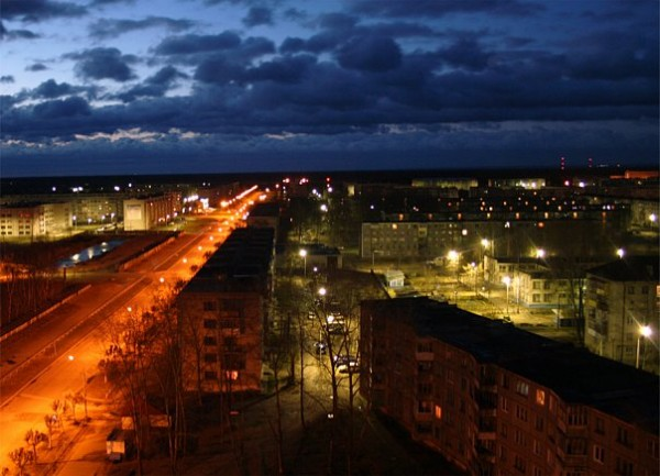 Коряжма, вид на проспект Ленина в сторону улицы Советской