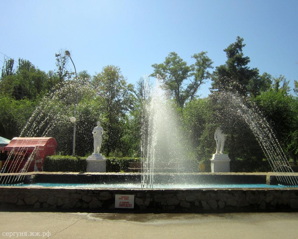 Волжский, городской парк, фонтан