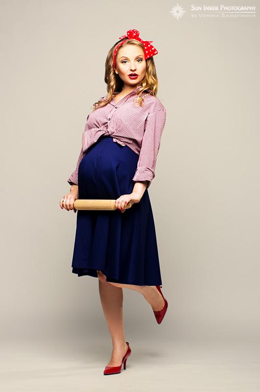 Стиль 50-х для беременных