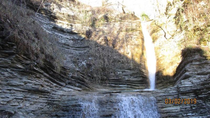 Водопад в Цегельской щели