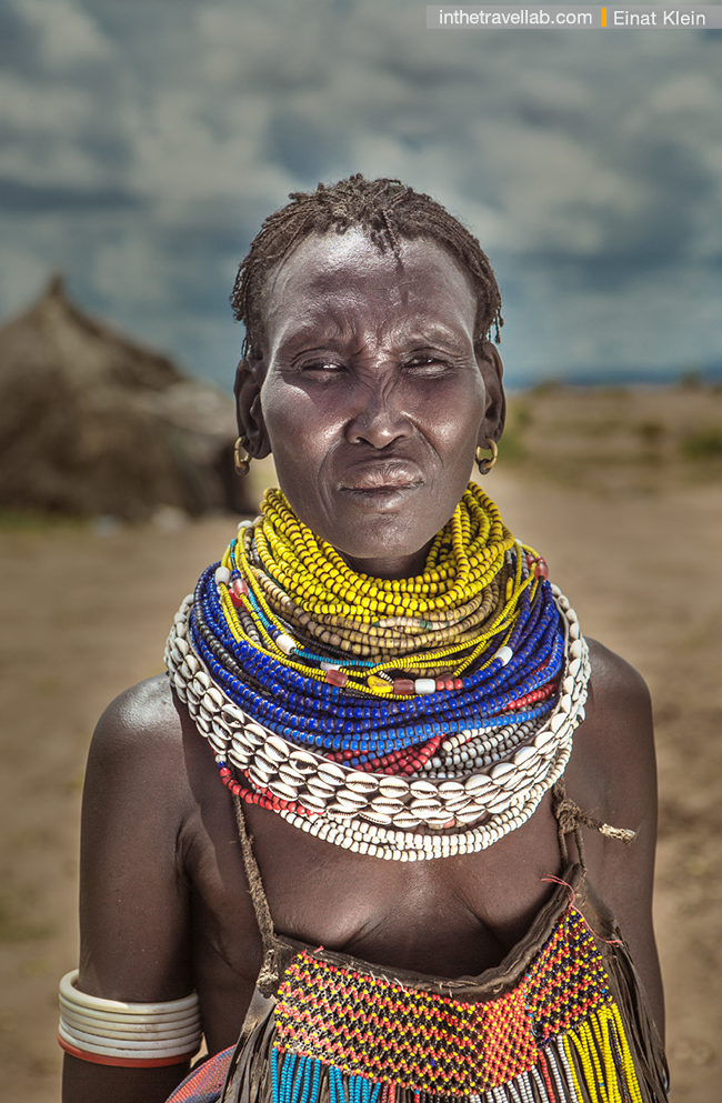 Nyangatom woman, Omo river tribes