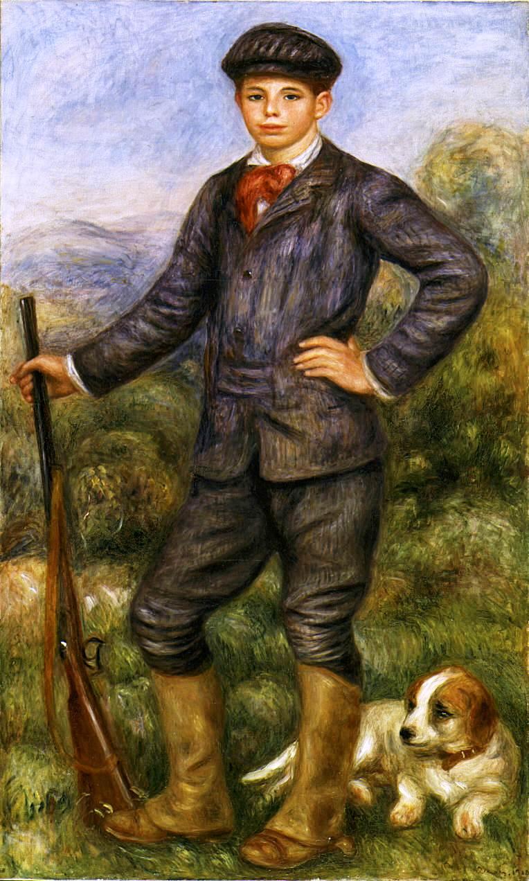 Pierre-Auguste_Renoir_-_Jean_en_tant_que_Chasseur