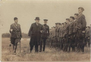 Inspection of Wesley Cadets - Captain Hanton on left