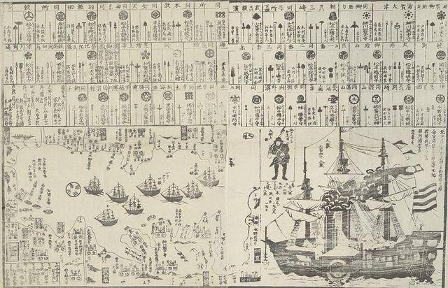 Чёрные корабли коммодора Перри, 1854