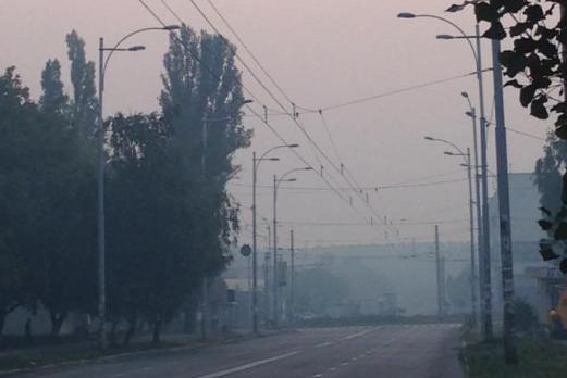Киев в дыму