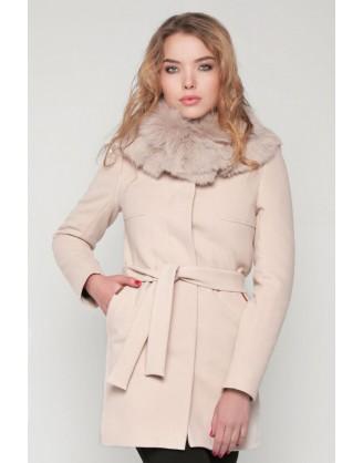 зимнее женское белое пальто