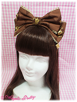 Angelic Pretty Chess Chocolate Headbow brown