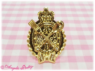 Angelic Pretty Chess Chocolate Emblem Ring GoldxClear