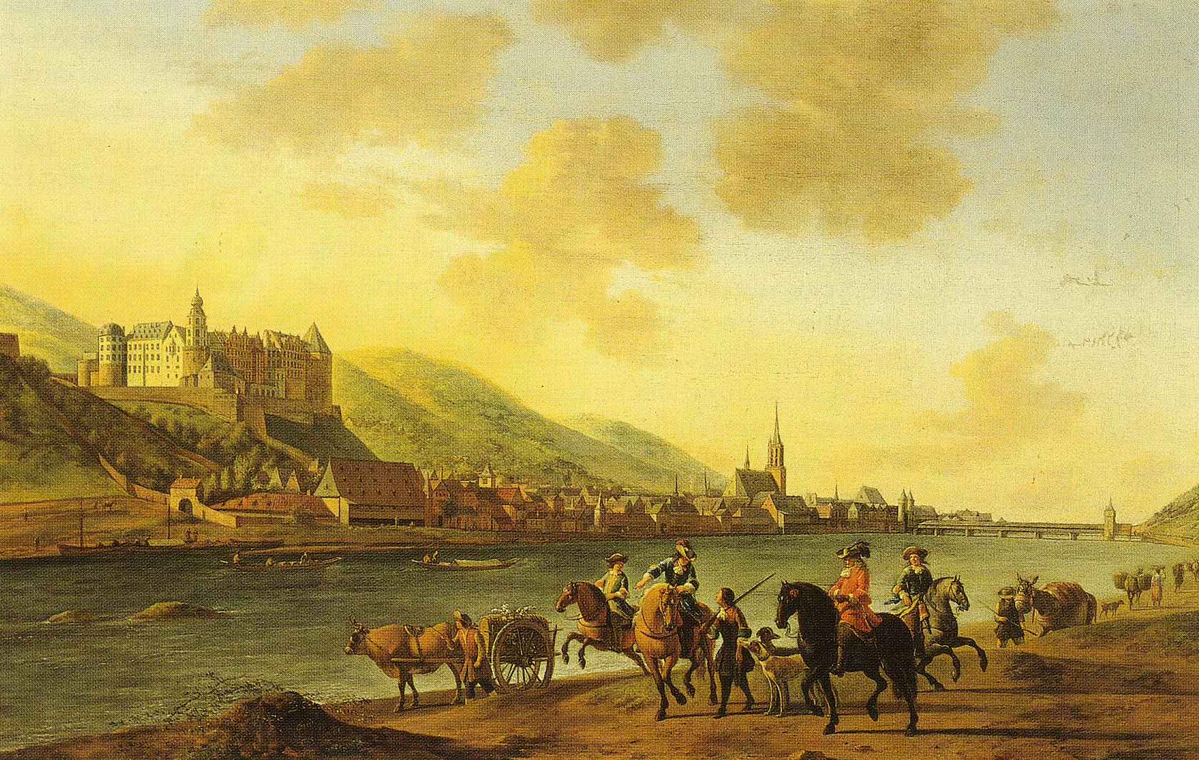 Heidelberger_Schloss_von_Gerrit_Berckheyde_1670
