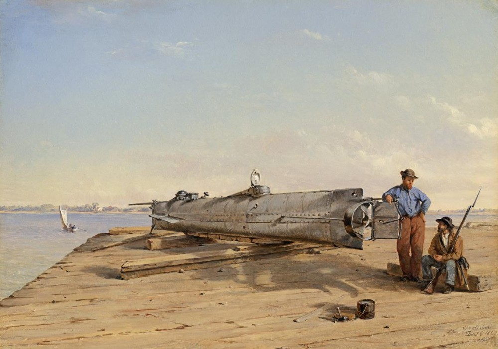 Conrad_Wise_Chapman_-_Submarine_Torpedo_Boat_H.L._Hunley,_Dec._6,_1863