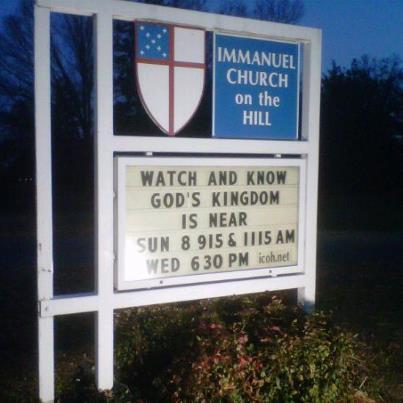 Immanuel Advent Sign