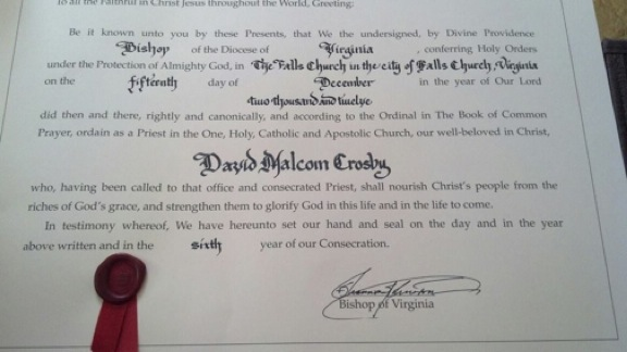 The Priest's Certificate