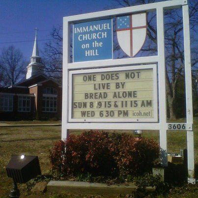 Not Bread Alone sign