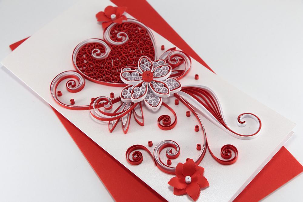 Как сделать открытку из бумаги своими руками видео валентинки