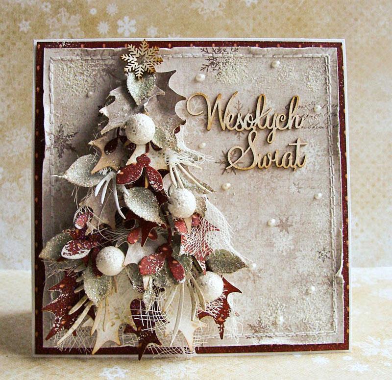 Рождество открытки скрапбукинг
