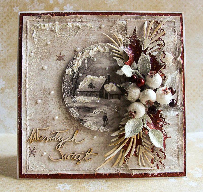 открытки своими руками на рождество скрапбукинг
