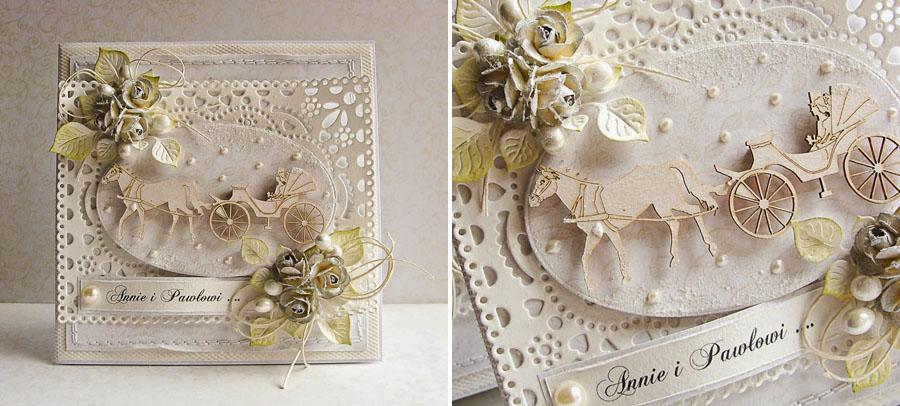 Скрап открытка свадьба золотая