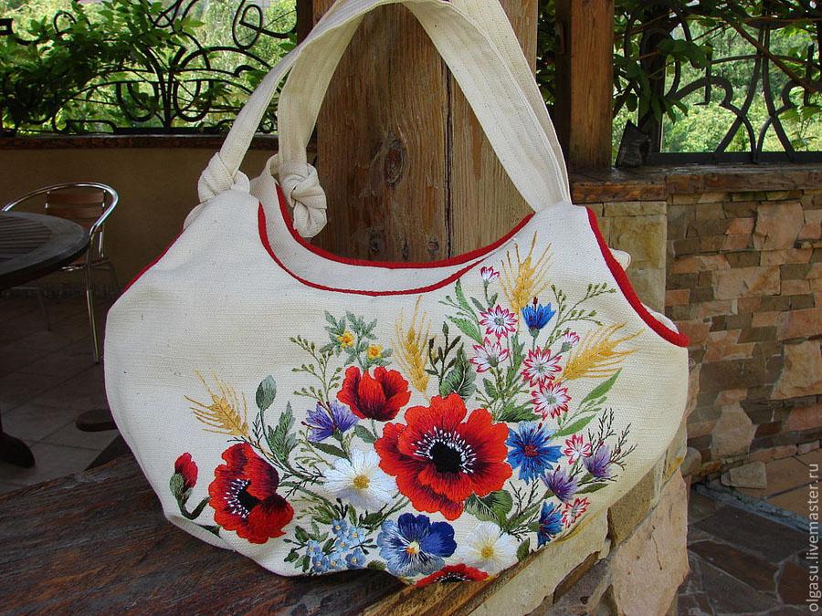 Вышитые сумки из ткани своими руками 16